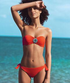 Spodní díl plavek setnickou ozdobou oranžová.