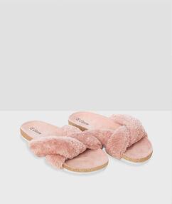 Otevřené papuče růžová.