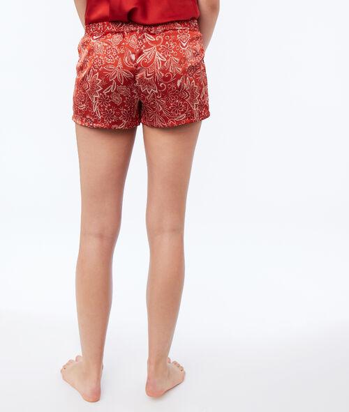 Saténové nohavičkové kalhotky