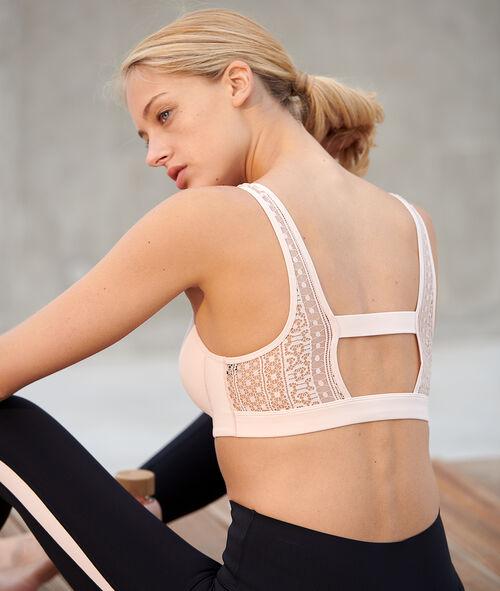 Sportovní podprsenka s krajkovými zády - střední podpora