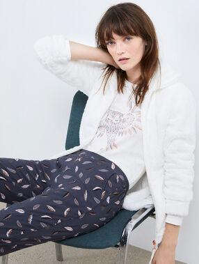 Třídílné pyžamo sova béžová.