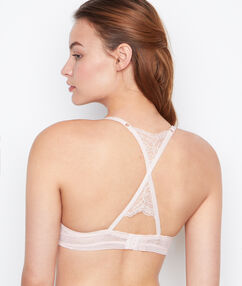 Podprsenka push up racer back blush.