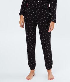 Pyžamové kalhoty noir.