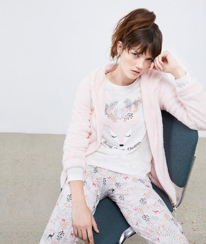Třídílné pyžamo laň růžová.