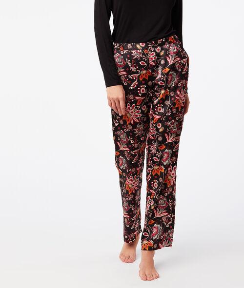 Široké květinové kalhoty