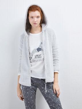 Třídílné pyžamo se zapínáním hvězda gris clair.