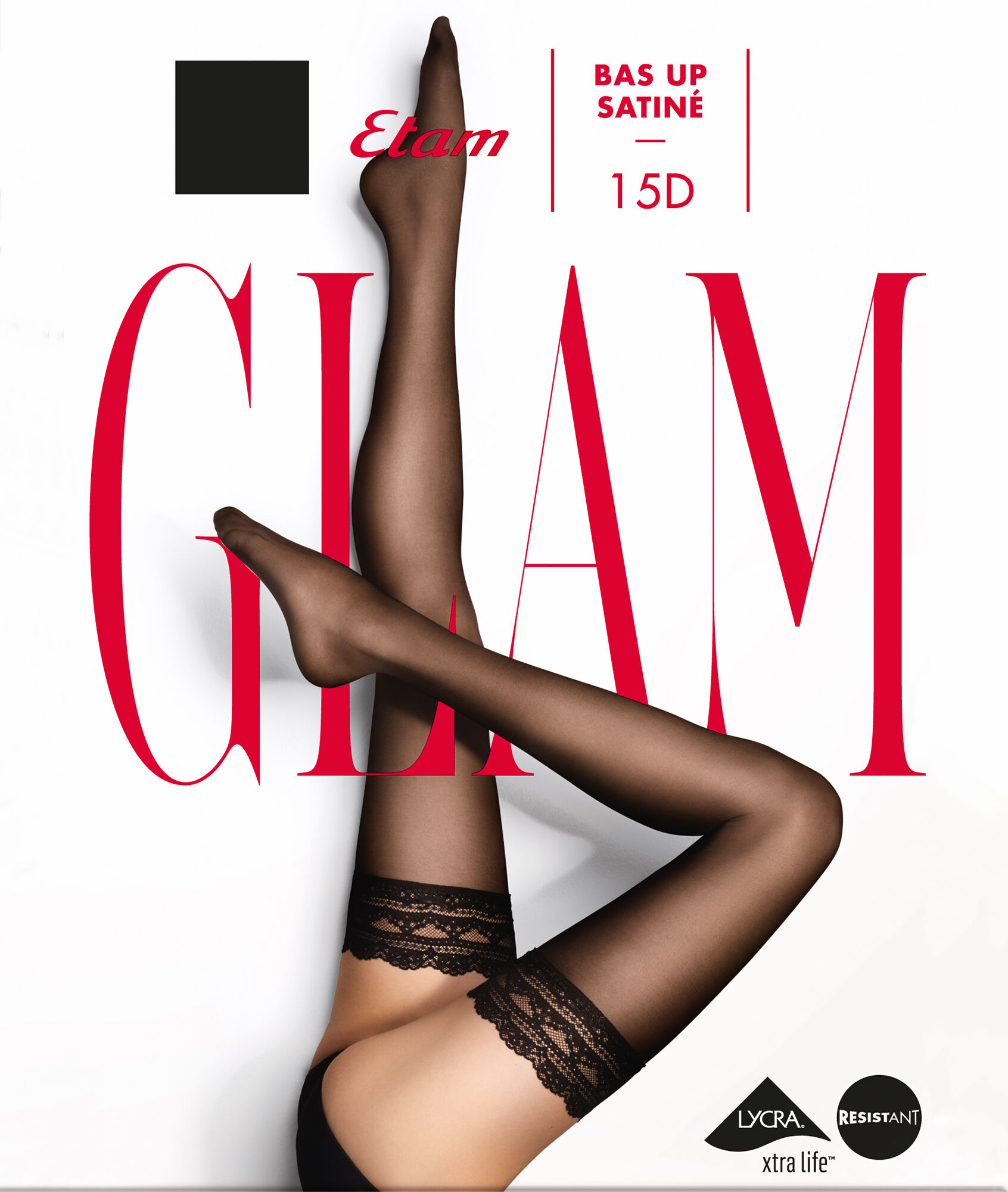 241251e6d26 Stockings - SATINE BAS UP - BLACK - Etam